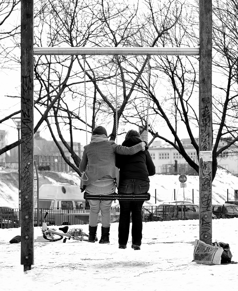 couple on swings