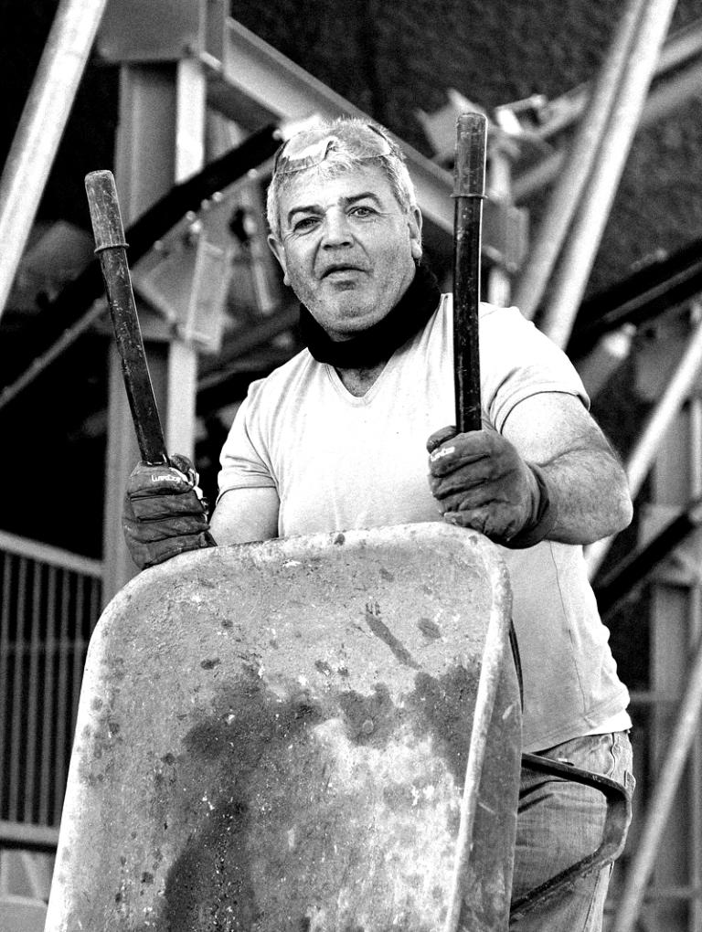 Worker on Pico tel Teide